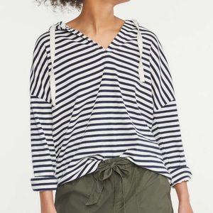 NWOT Lou & Grey Striped Cotton Hoodie Sz XS